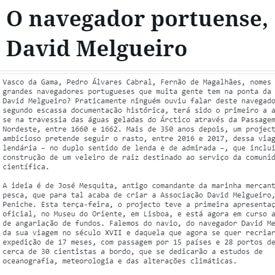 O navegador portuense, David Melgueiro