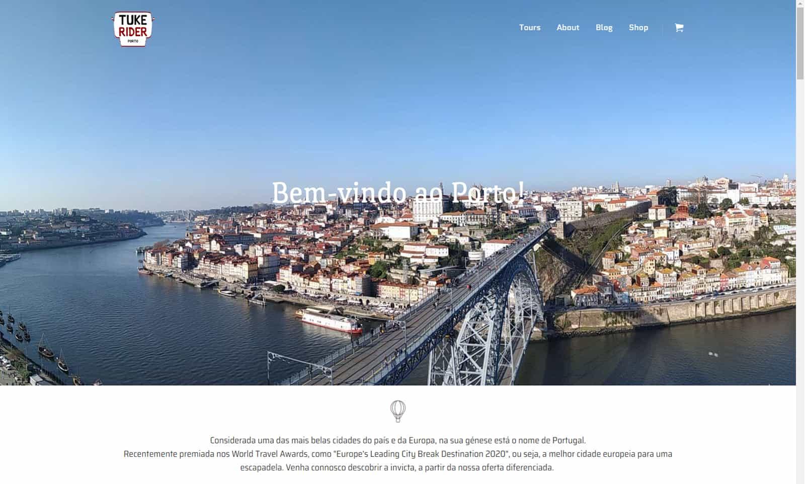 """Tuke Rider Porto"" - versão 2021 (Wordpress)"